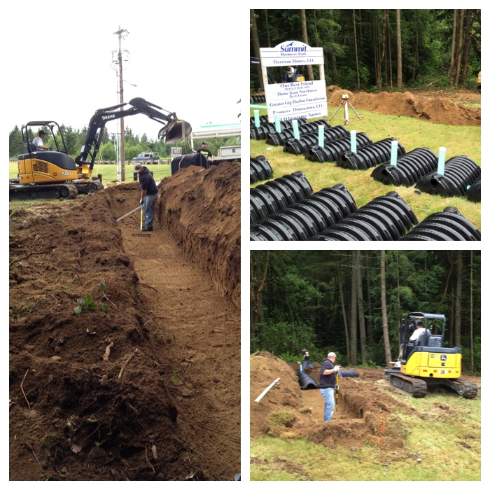 Gig harbor commercial gravity septic system apex septic for Gravity septic system design