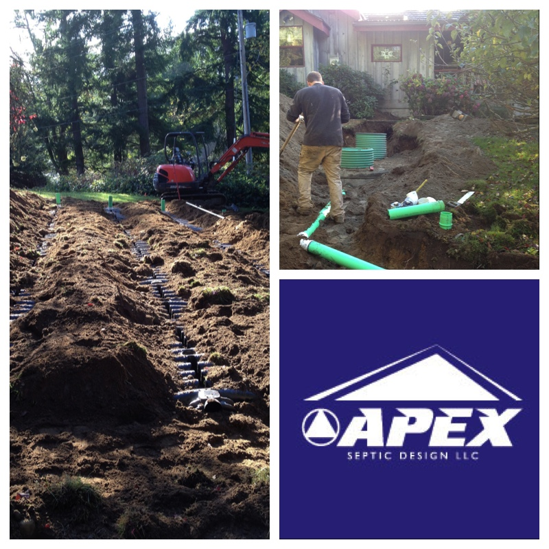 Gravity septic design in poulsbo apex septic design llc for Gravity septic system design